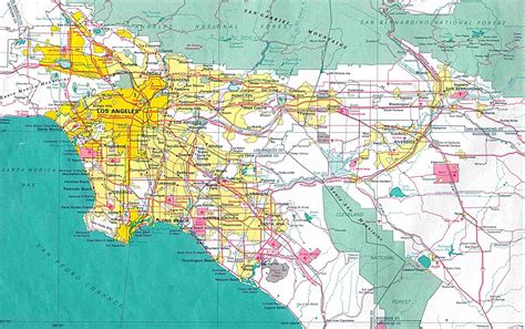 large detailed map  los angeles city los angeles city