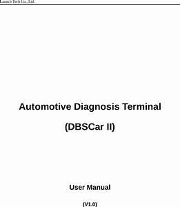 Launch Tech Ds201 Automotive Diagnosis Terminal User Manual
