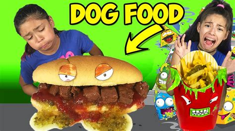 ate dog food gross dog food sandwich youtube