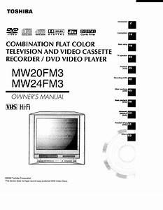 Toshiba Mw24fm3 Television User Guide