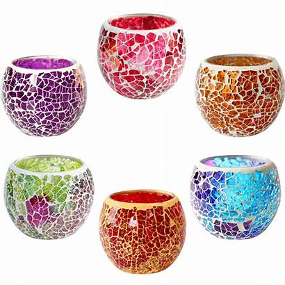 Moroccan Candle Holder Glass Tea Mosaic Holders