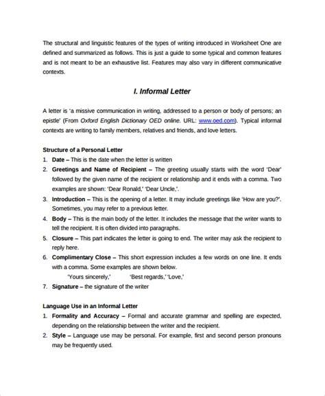 define informal letter salutation