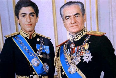 Historical Pictures.the Shah Of Iran With His
