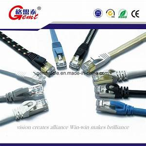 China Cat5 Cat5e Cat6 Cat 6a Cat7 Flat Network Cable Patch