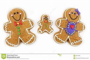 Gingerbread Cookie Family stock photo Image of holiday