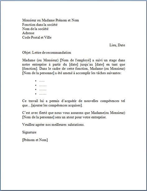 recherche apprenti cuisine lettre de recommandation suite à un stage lettres pour