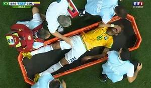 Neymar suffers back injury, cries on stretcher (Video ...