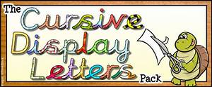 the cursive display letters pack With display board lettering