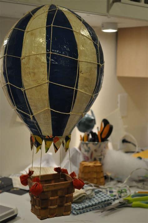 paper mache hot air balloon  pinterest