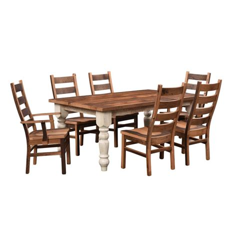 farmhouse barnwood dining table amish crafted furniture