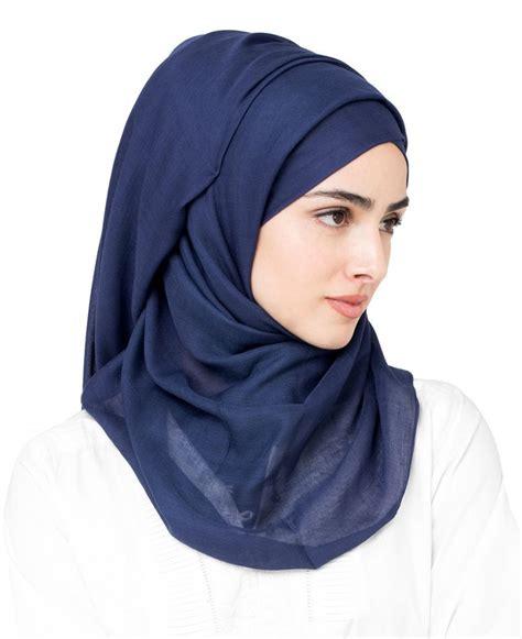 peacoat navy blue viscose hijab  inessence ayisahcom