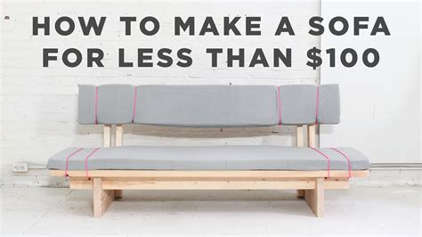 how to make a sofa cover without sewing diy sofa how to make a no sew sofa for under 100 youtube