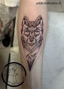 Tatouage Loup Geometrique : portfolio tatouage addict ink tattoo nice salon de tatouage ~ Melissatoandfro.com Idées de Décoration