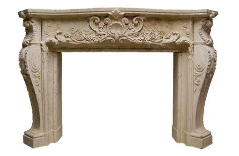 ornate louis xiv stone fireplace mantel stone mantel