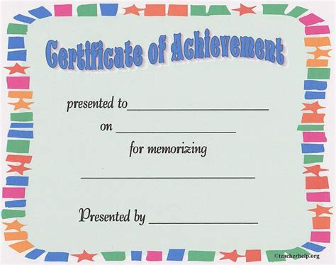 Bible Memorization Certificates Learned My Memory Verse This Certificate Can Be Used For Memorizing A Bible Verse