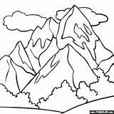 Mountain Range Coloring Getdrawings sketch template