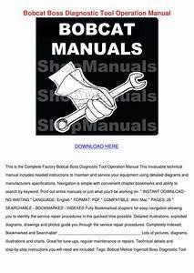 Bobcat Boss Diagnostic Tool Operation Manual By