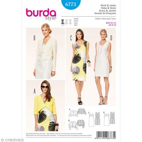 cuisine moleculaire patron burda femme robe et veste courte 6773 patron de robe creavea