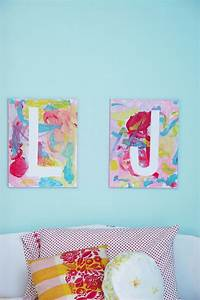 Canvas letter art 9 cool ways kids can turn a blank for Letter canvas