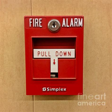 Simplex Fire Alarm Pull Station Throw Pillow for Sale by