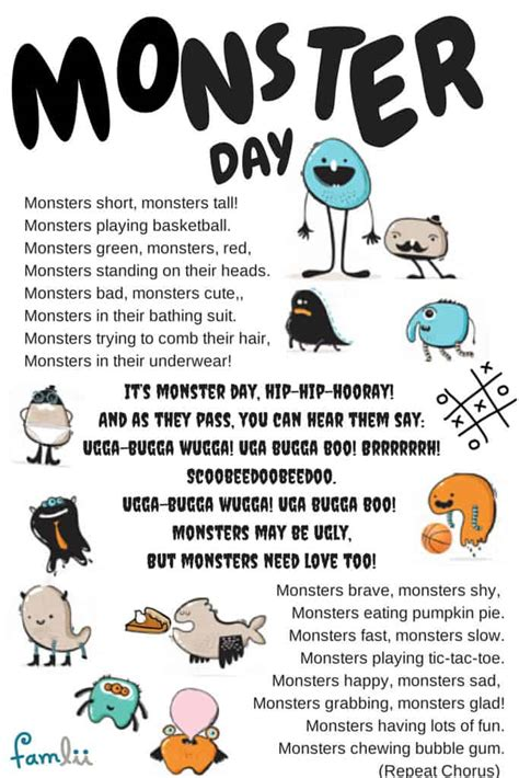 it s day hip hip hooray song for 773 | Monster Day Song Famlii