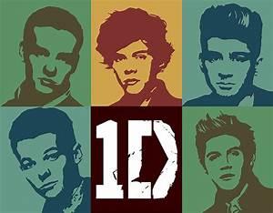 1d One Direction Toned Pop Art Digital Portrait A