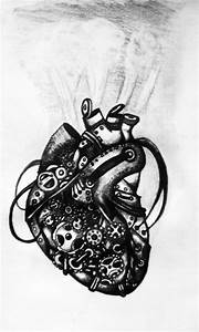 Mechanical Heart Drawing at PaintingValley.com | Explore ...