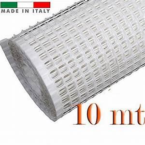 RETE PER BALCONI BIANCA MM 10X10 H 100 (ROTOLO DA MT 10)