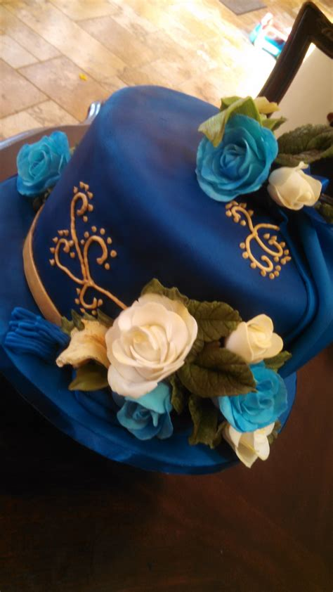 Royal Blue Birthday Cake Cakecentralcom