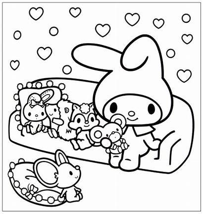 Coloring Kawaii Pages Kitty Hello