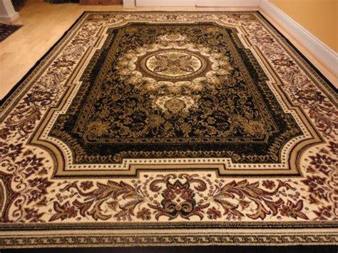 Large Black 8×11 Rug Persian Style Oriental Rug Black