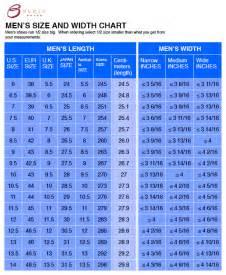 Wide Width Shoe Size Chart for Men