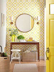 Le Papier Peint Jaune : choisir un papier peint de couloir original ~ Zukunftsfamilie.com Idées de Décoration