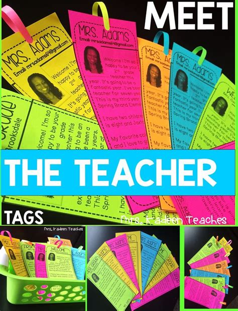 ideas  teacher introduction  pinterest