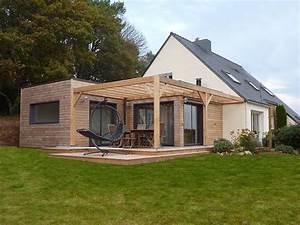 Extension de plein pied en toit terrasse 50 m2 sur maison for Idee maison plain pied 8 agrandissement et extension de maison