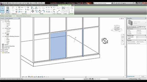 revit placing  door   glass curtain wall tutorial