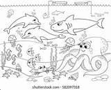 Meeresboden Seabed Crabs Färbung Seaweed Zeebedding Marinier Illustrationen Raster Coloritura Ravenous Kanker Crustaceans Geitjes sketch template