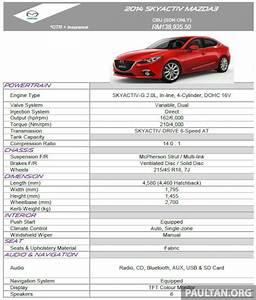 Dimension Mazda 3 : mazda 3 sedan malaysian specs revealed in slides image 222369 ~ Maxctalentgroup.com Avis de Voitures