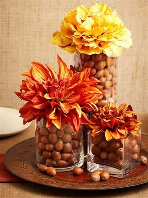acorn centerpieces  eco accents fall crafts