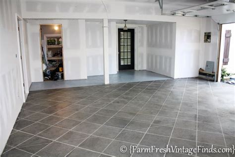 Garage Floor Paint Vs Stain by How To Stain Your Concrete Garage Floor On A Budget And