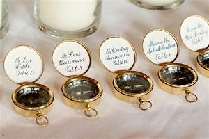 nautical themed real wedding compass guest favors escort With nautical wedding favors ideas