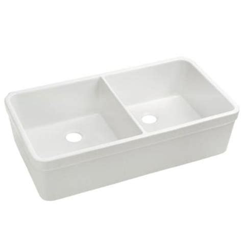 Apron Sink Home Depot by Whitehaus Collection Basichaus Fireclay Apron Front 32 In