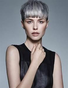Coupe Courte Femme Cheveux Gris : coupe de cheveux gris 2017 ~ Melissatoandfro.com Idées de Décoration