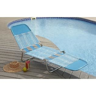 garden oasis pvc chaise lounge blue outdoor living