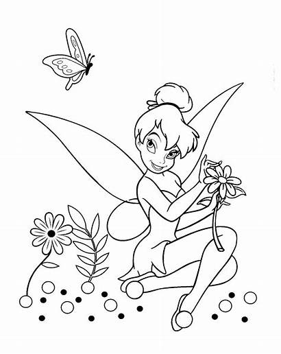 Tinkerbell Coloring Bell Tinker Disney