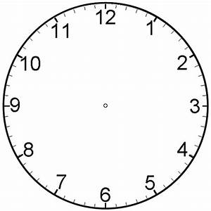 Printable clock face template clipart best for Clock face templates for printing