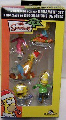 the simpsons 5 piece mini christmas ornament set nib