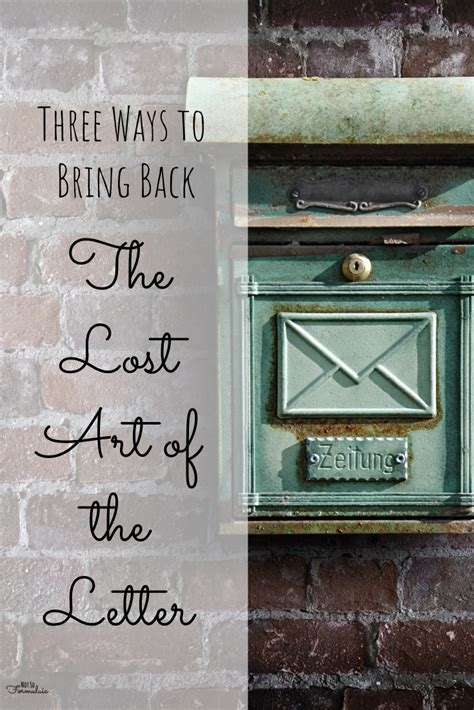 three letters back three ways to bring back the lost of the letter not 25287