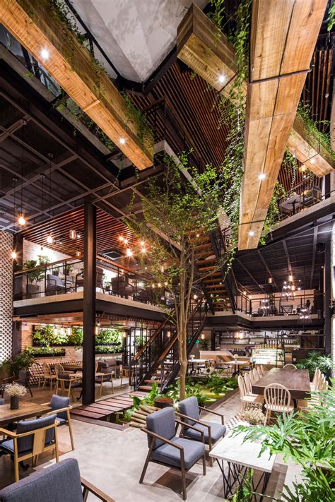 Garden café is the place where great cooking and fantastic vibes meet. AN' Garden Cafe, A Green Industrial Oasis in... | Garden cafe, Coffee shops interior, House design