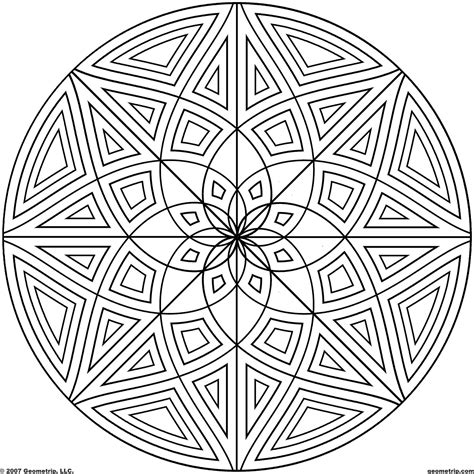 geometric designs to color circles coloring page coloring home